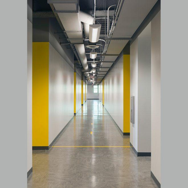 view along corridor