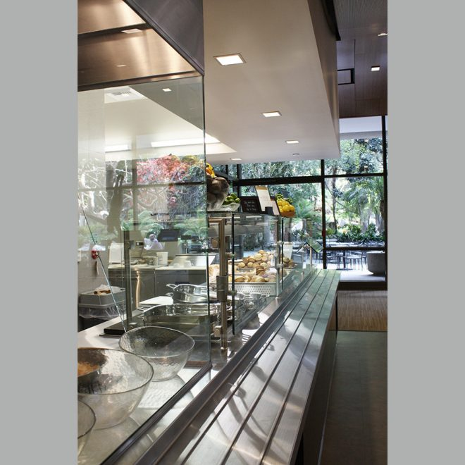 interior view of the servery